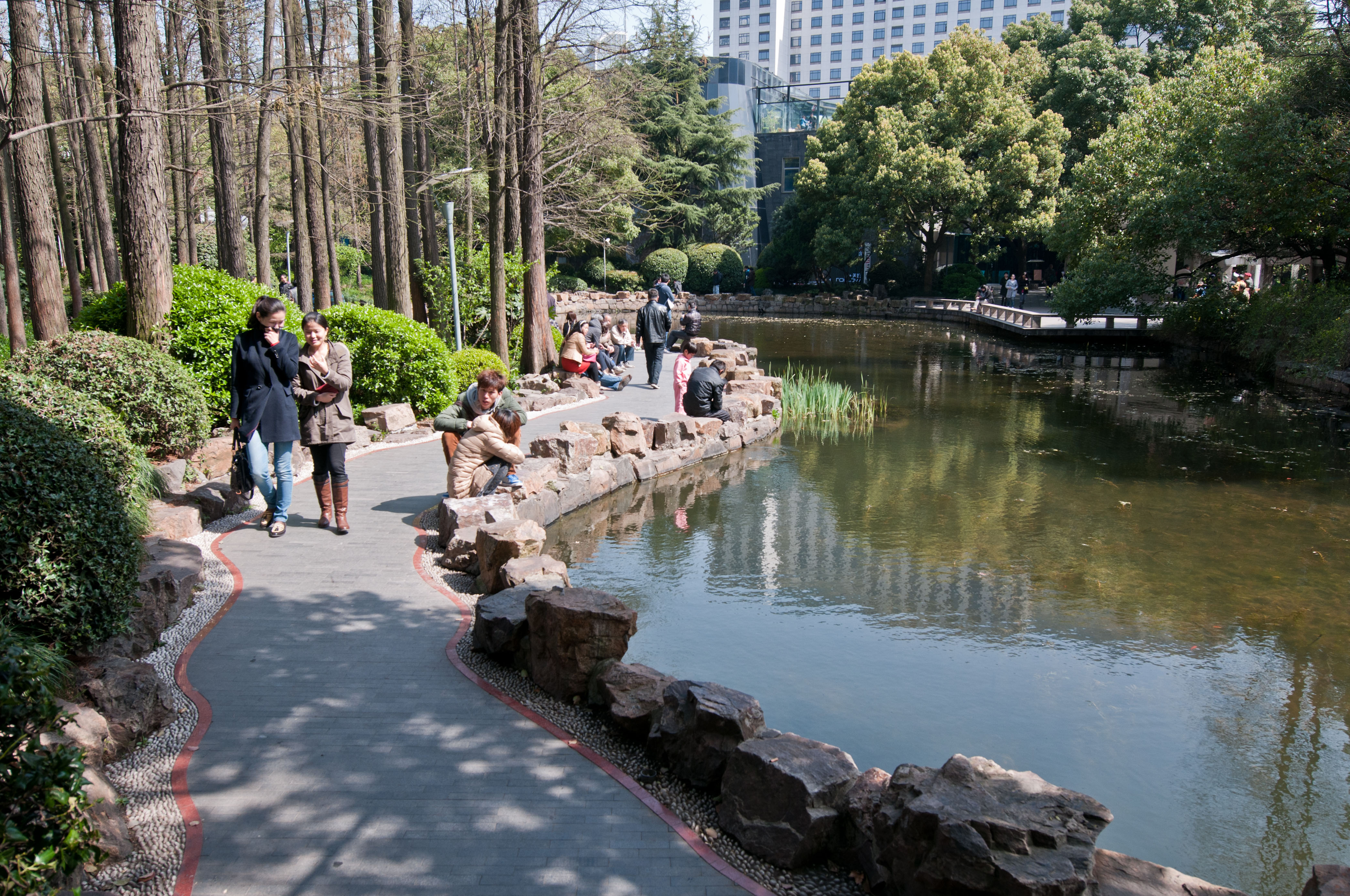 People's Park in Huangpu District of central Shanghai, China
